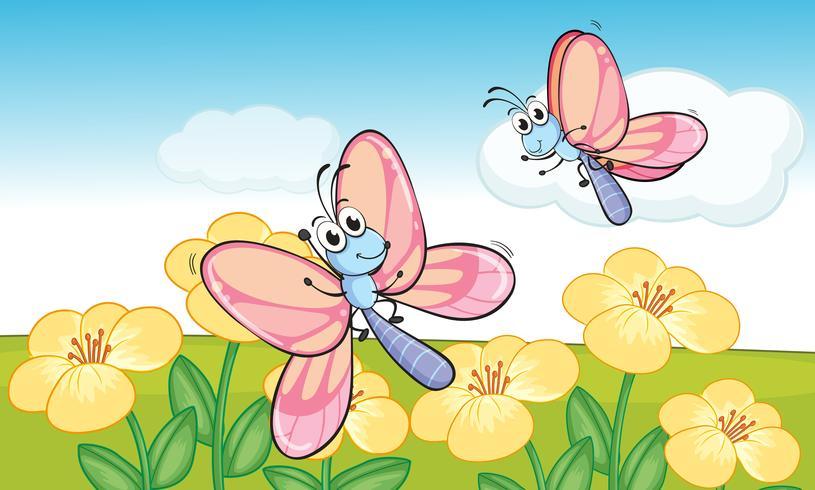 Un papillon volant