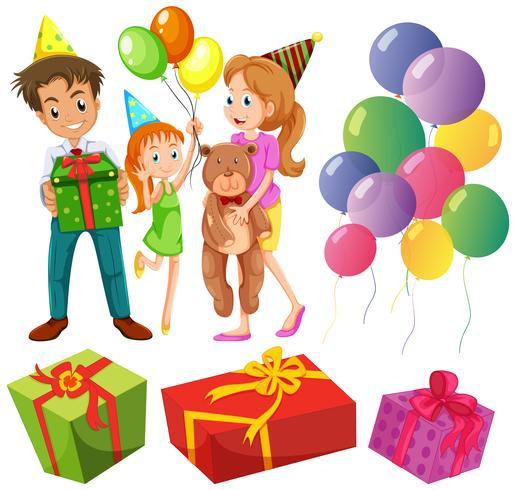 Aniversário com família e presentes