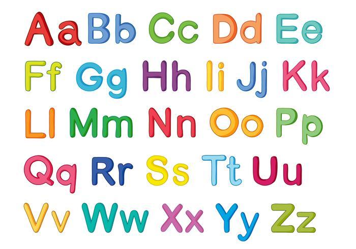 alphabets anglais vecteur