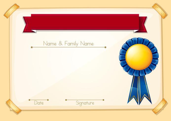 Una plantilla en blanco certificado formal