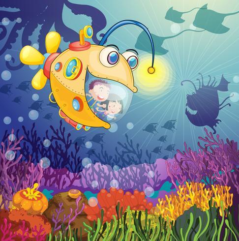 peces monstruo y niños
