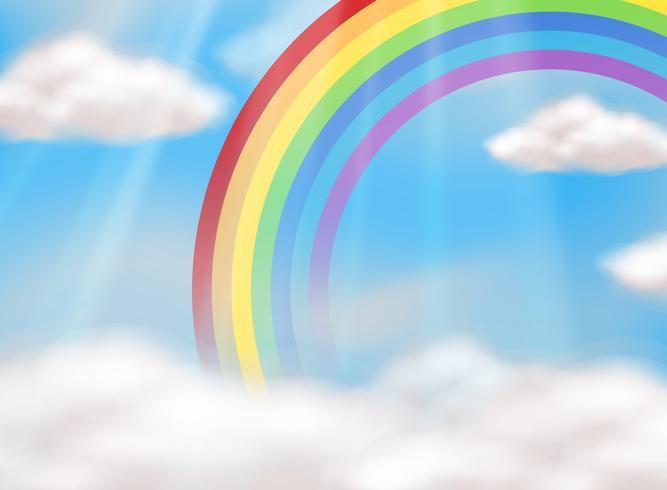Een mooie regenboog in de lucht vector