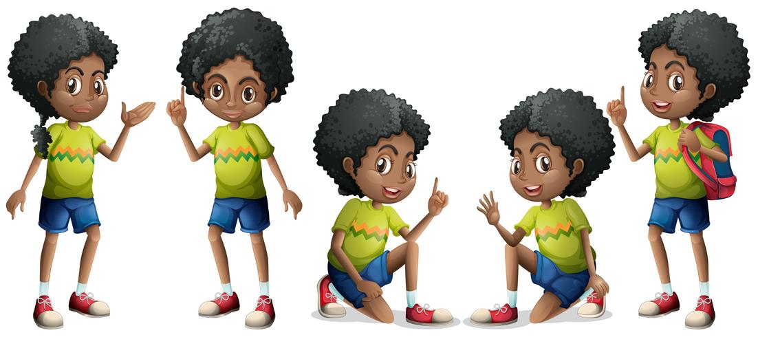 Afrikaanse jongen vector