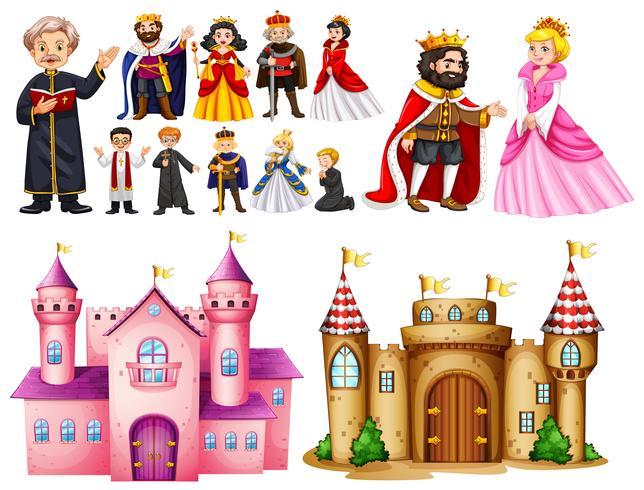 Königspalast und verschiedene Charaktere