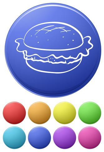Iconos de comida vector