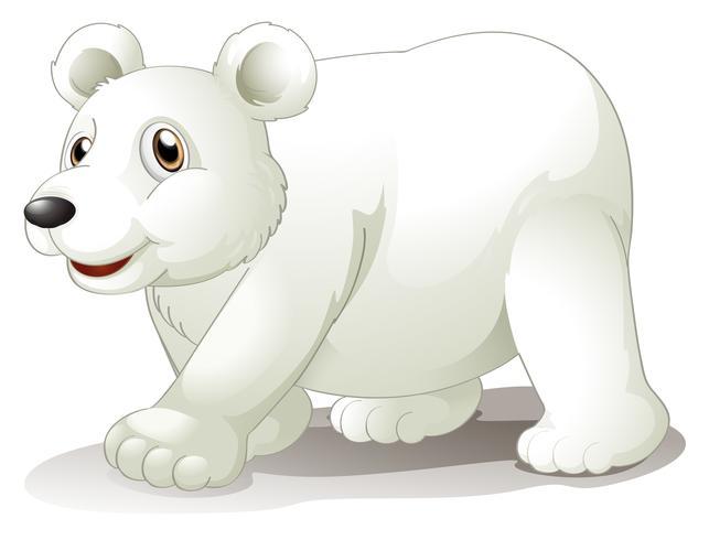 Un gros ours blanc