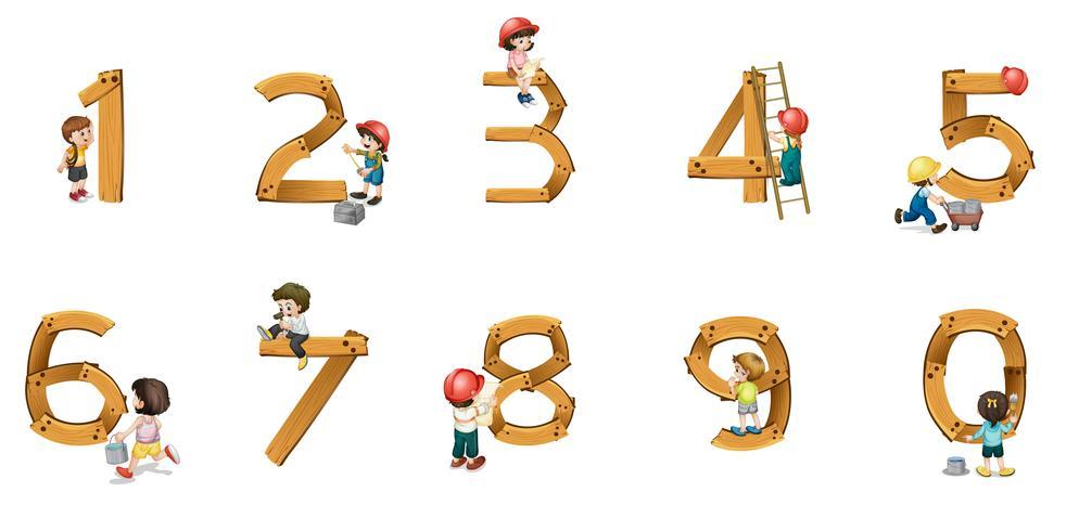 números vector