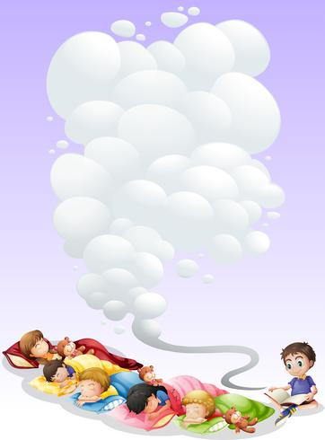 Children taking nap