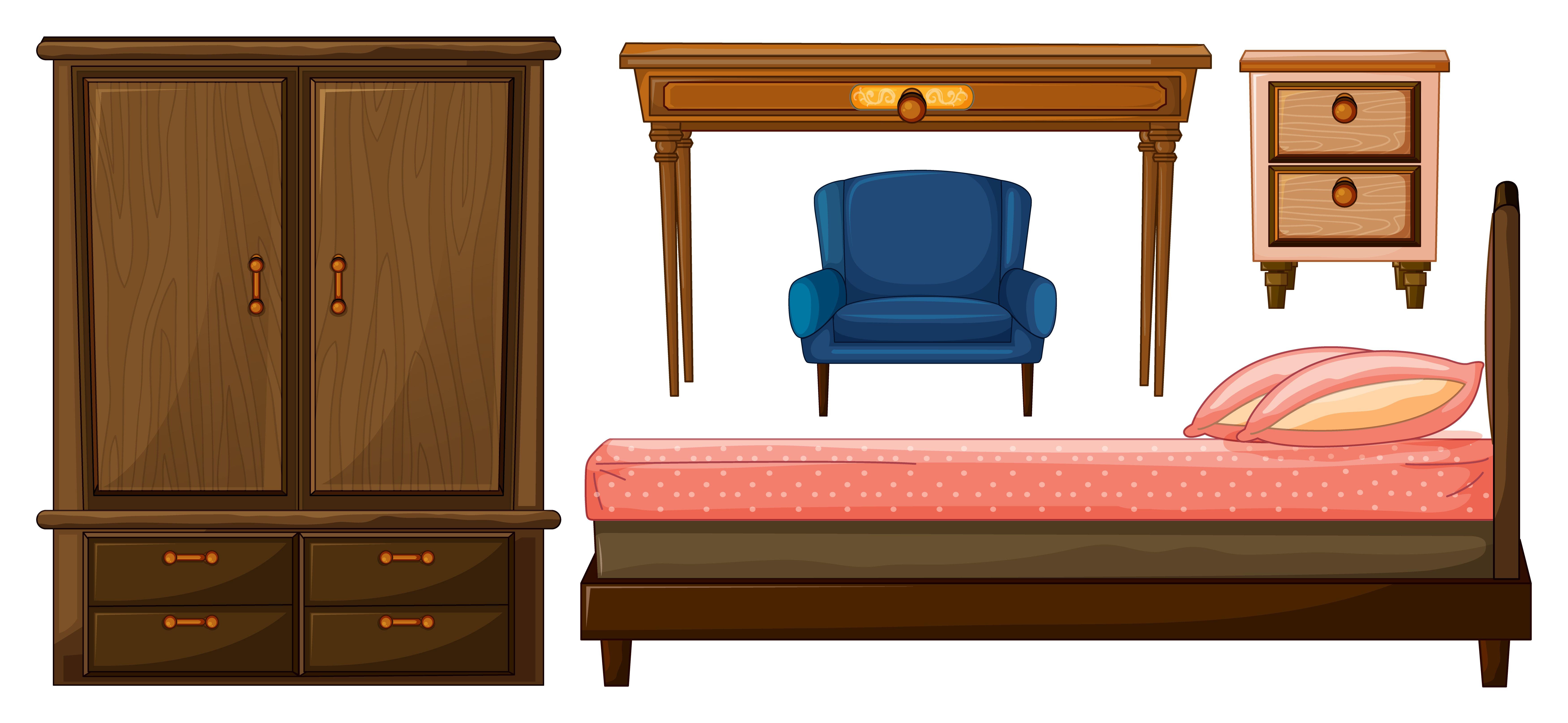 Bedroom Furnitures Download Free Vectors Clipart