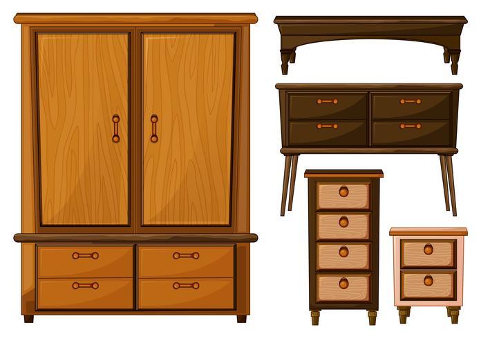 Muebles de madera.