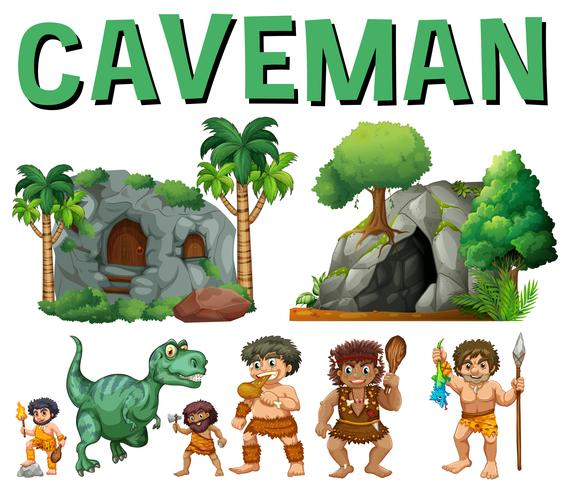 Figuren und Höhlen für Höhlenmenschen