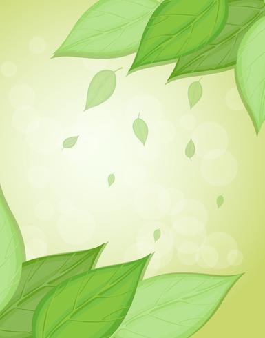 Ett brevpapper med stora gröna blad vektor