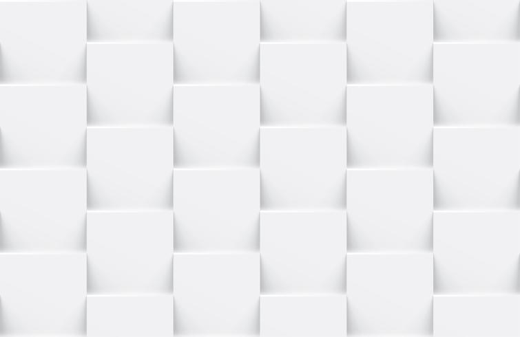 White seamless abstract geometric background vector