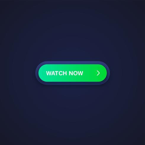 Färgrik glänsande och ren knapp för webbplatser och online användning, vektor illustration
