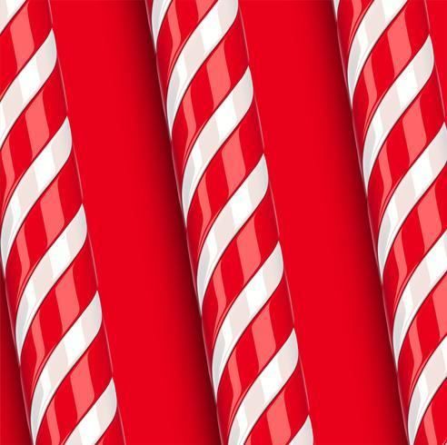 Bastón de caramelo rojo detallado alto, ilustración vectorial vector
