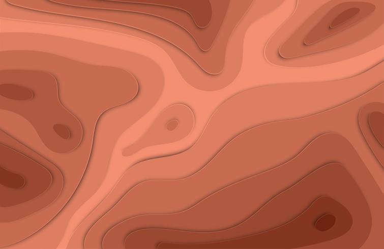 El papel cortó el fondo colorido del alivio 3D con las sombras para la publicidad, ilustración del vector