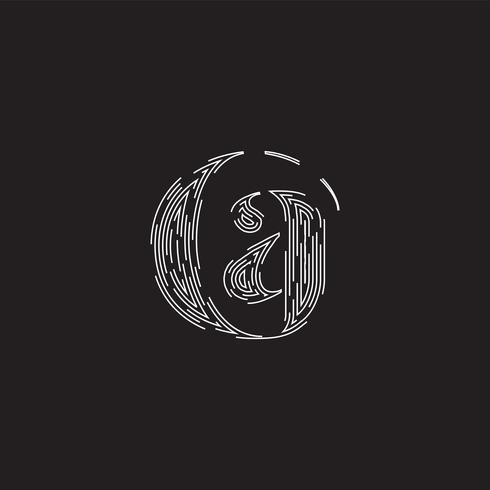 Caractère élégant d'un jeu de polices constitué de lignes pointillées, illustration vectorielle