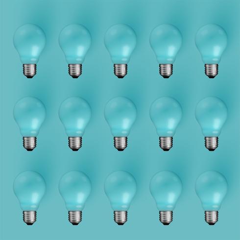 Alta illustrazione realistica dettagliata della lampadina, vettore