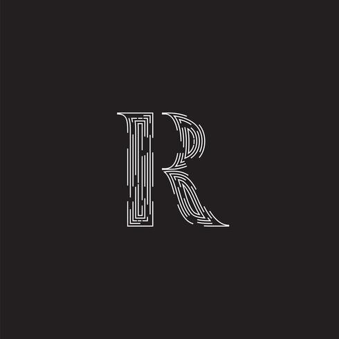 Eleganter Charakter von einem fontset gemacht durch gestrichelte Linien, Vektorillustration vektor
