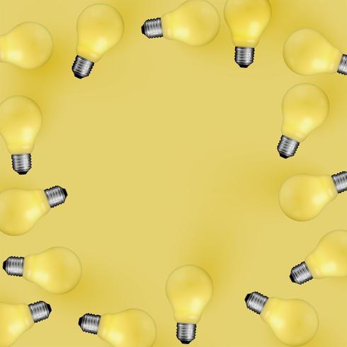 Ilustración de bombilla realista detallada alta, vector
