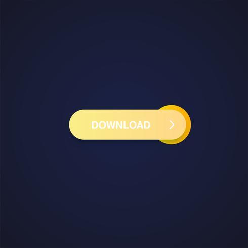 Bunter glänzender und sauberer Knopf für Website und Online-Nutzung, Vektorillustration