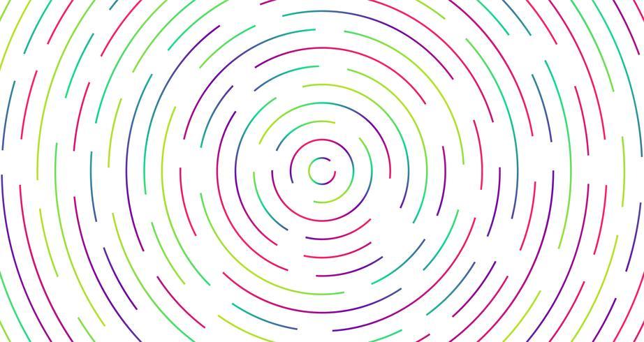 Kleurrijke neon gestormde lijnen, vectorillustratie