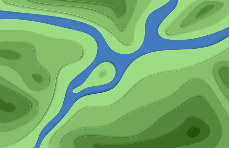 La carta ha tagliato il fondo variopinto di sollievo 3D con le ombre per la pubblicità, illustrazione di vettore