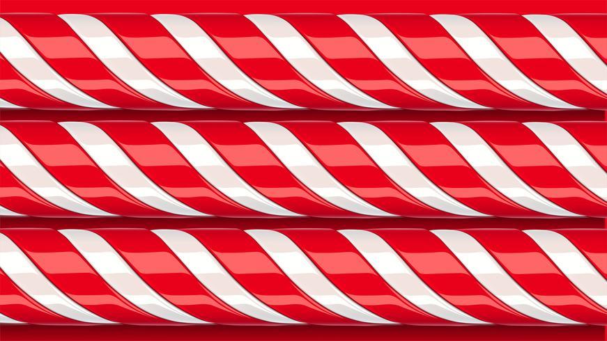 Bastão de doces vermelho detalhada alta, ilustração vetorial