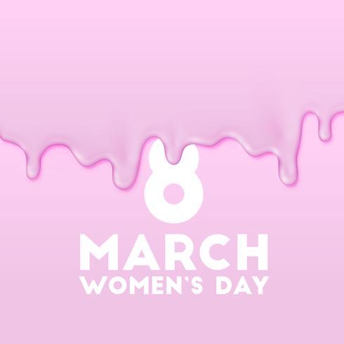 8 maart - de verfillustratie van de dag van Vrouwen, vector