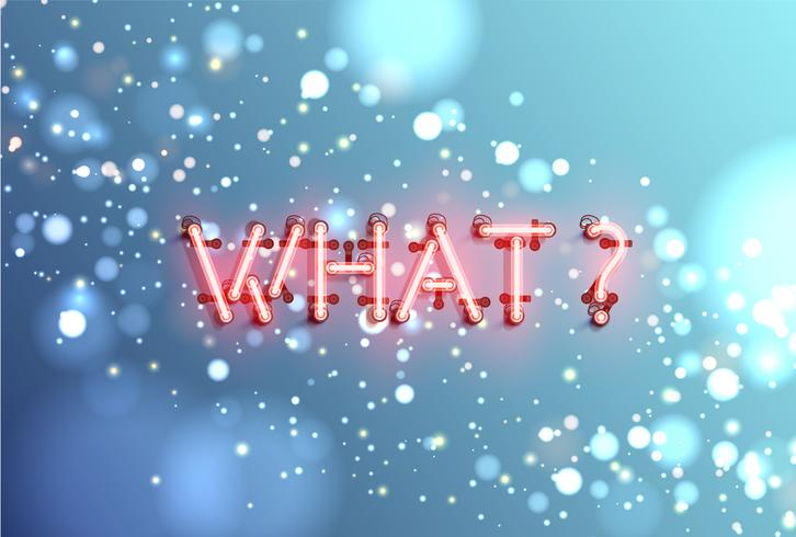 Neon realistiskt ord för reklam, vektor illustration