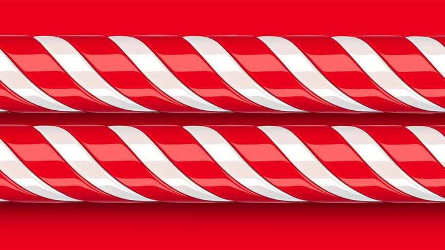 Bastón de caramelo rojo detallado alto, ilustración vectorial