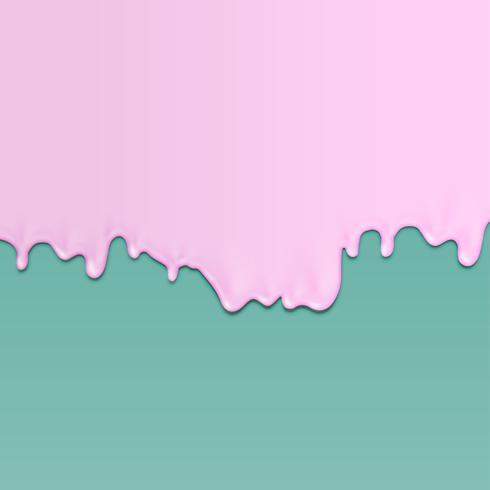 Realistische Farbe auf unterschiedlichem farbigem Hintergrund mit einer Form eines Gesichtes, Vektorillustration vektor