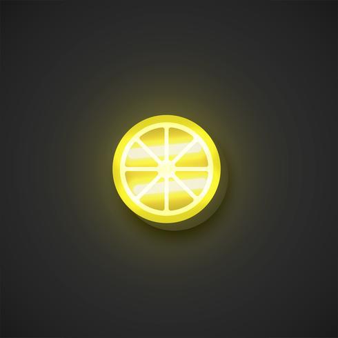 Realistische Neonfrüchte, Vektorillustration vektor
