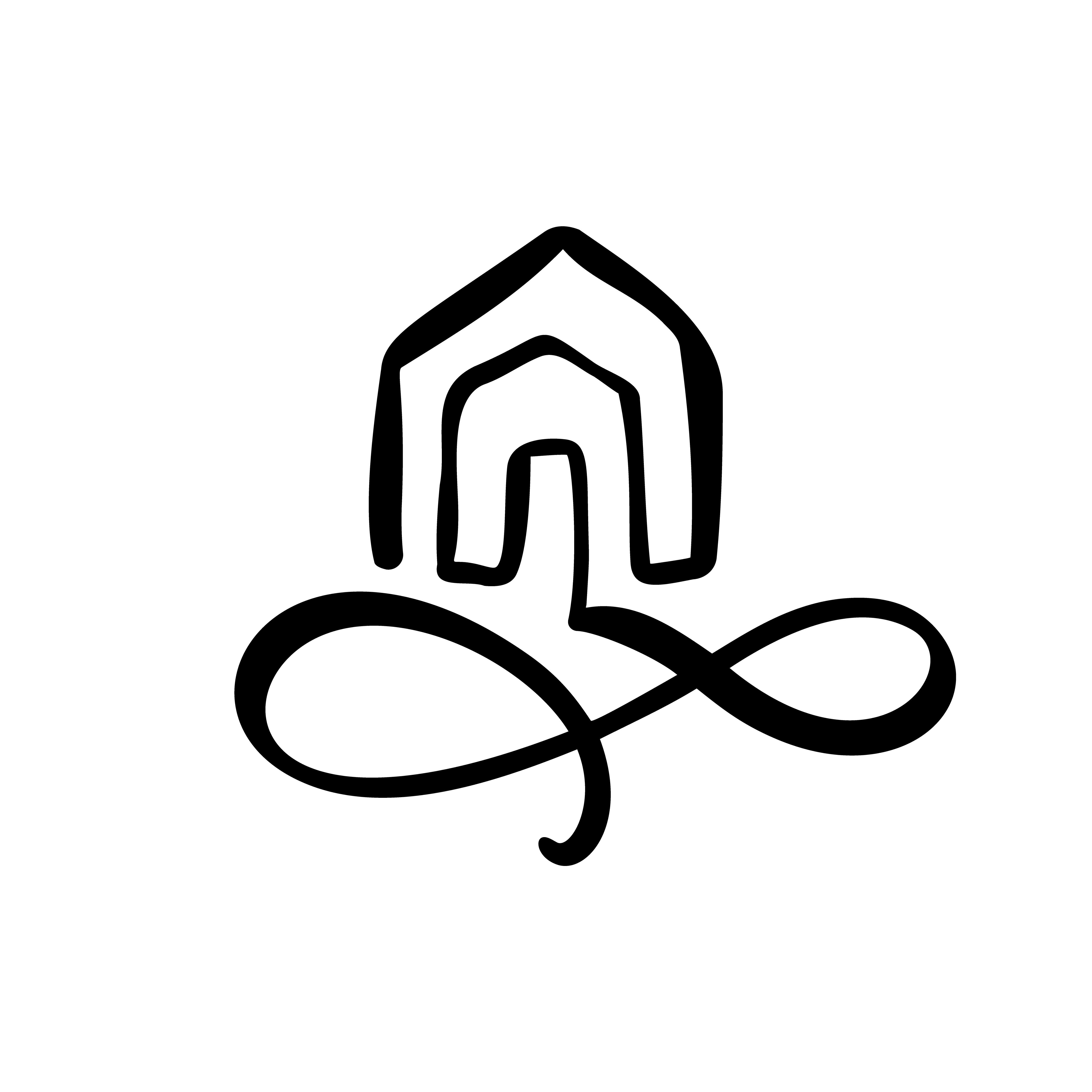 Simple Calligraphy House Real Vector Icon. Estate ...