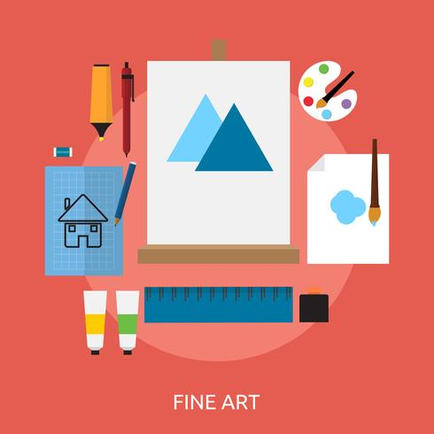 Fine Art Conceptual Design vector