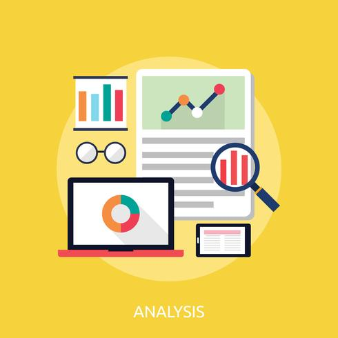 Analysis Conceptual illustration Design vector