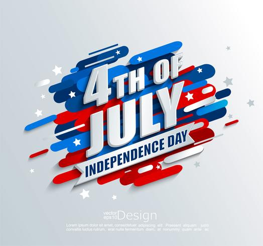 Banner for Independence day of the usa. vector