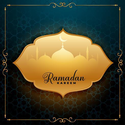 awesome ramadan kareem greeting background