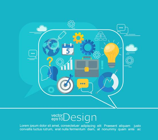 consultation des concepts de conception. vecteur