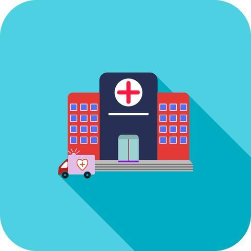 Hospital Flat Long Shadow Icon