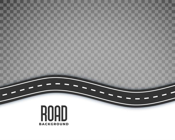 curved road background with white marking