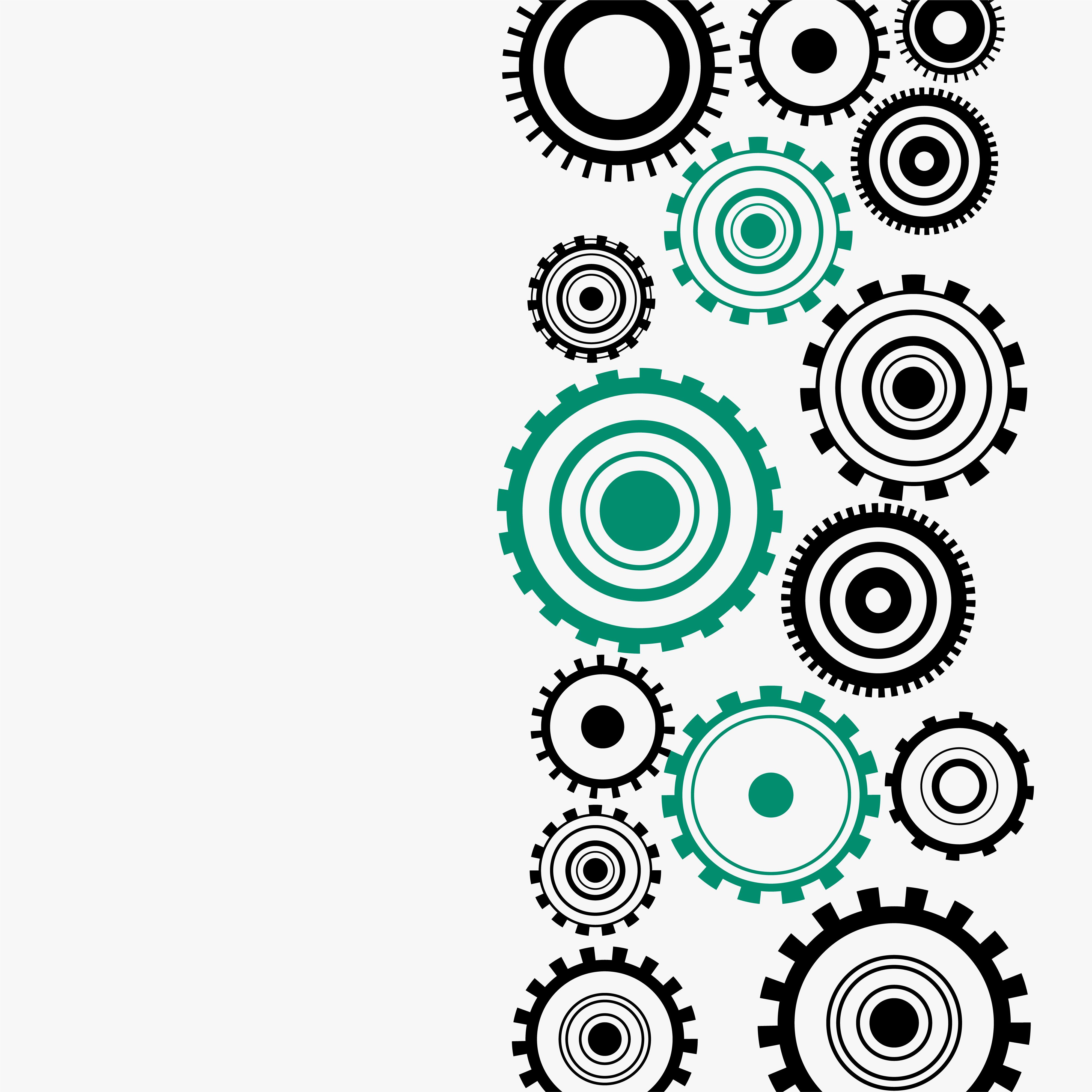 Gear Wheels Diagram On White Background