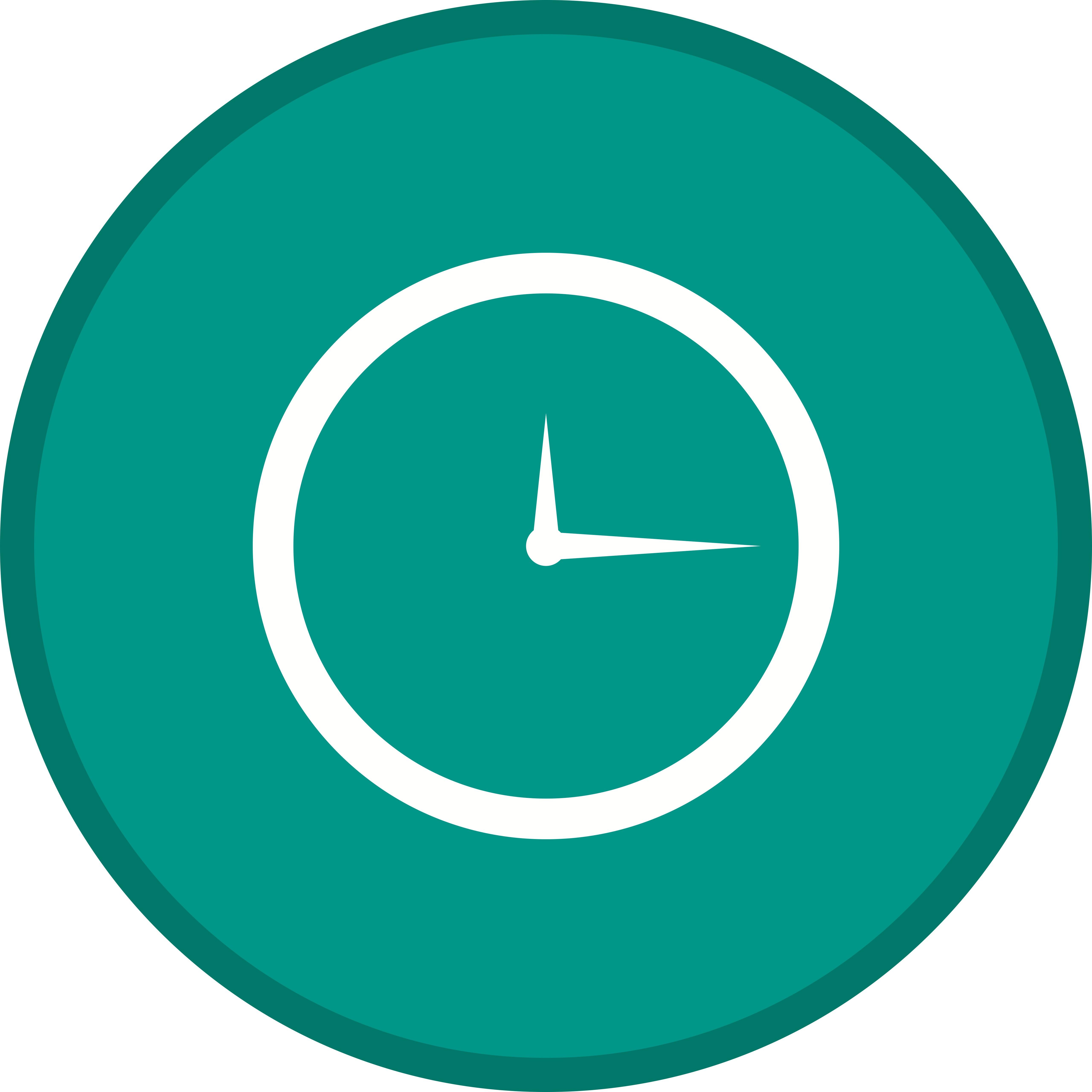 Clock Glyph Multi Color Background Icon