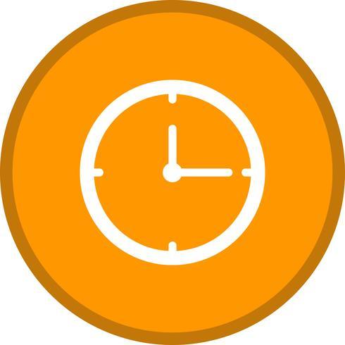Clock Glyph Multi Color Hintergrundsymbol