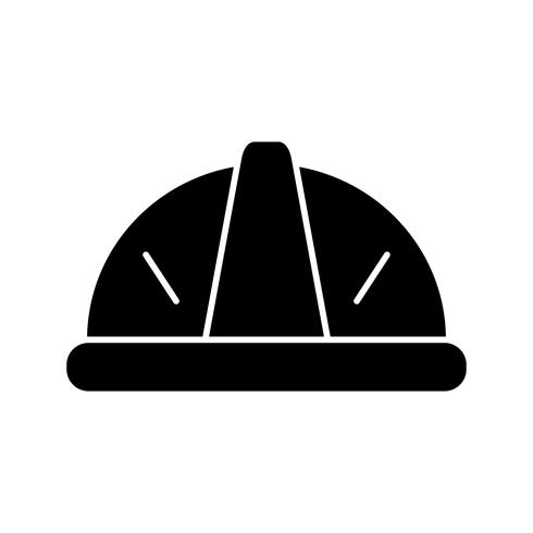 Helm Glyphe schwarze Ikone