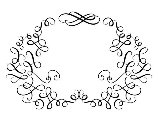 elementi di vintage prosperano set spirali decorativi per il design. Illustrazione EPS10 di vettore di calligrafia