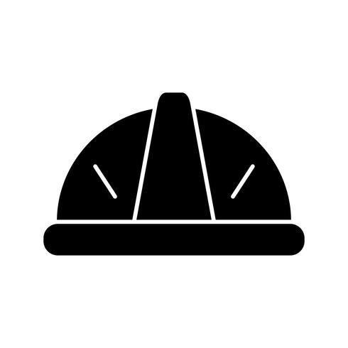 icona del glifo elmetto nero