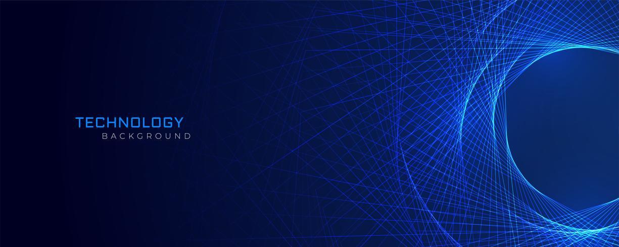 abstrakte blaue Linien Technologiehintergrund