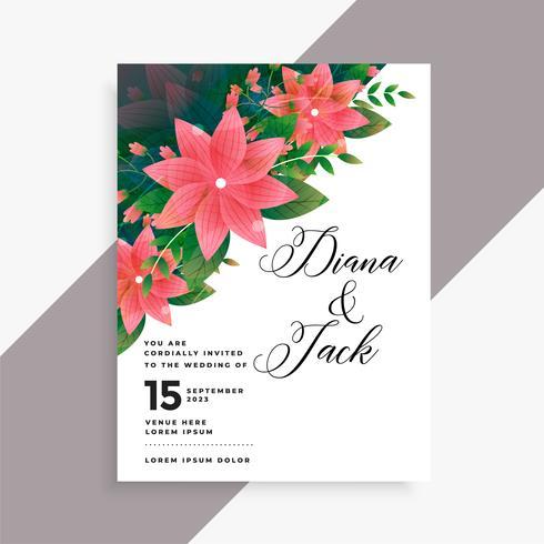 härlig bröllopinbjudningskortdesign