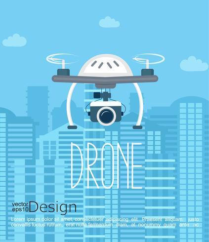 Drone con camara. vector